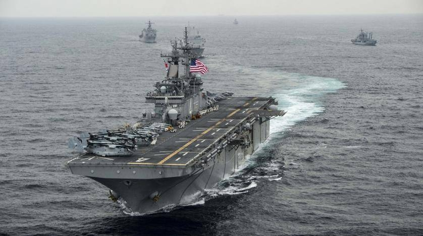 The amphibious assault ship USS Boxer transits the East Sea during Exercise Ssang Yong 2016in this file photo. — Reuters