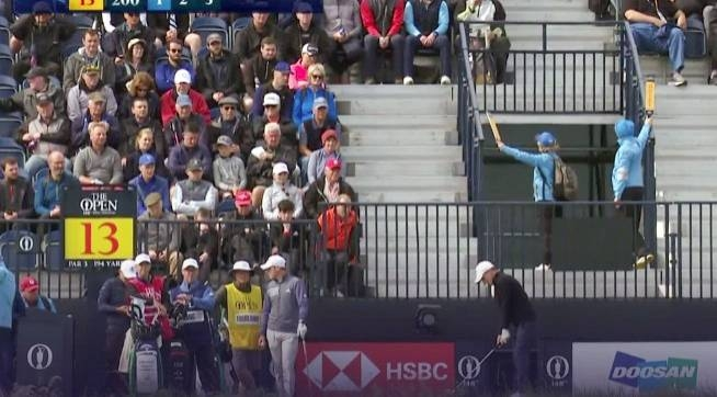Argentinian Emiliano Grillo made the first hole-in-one of the 148th British Open on Thursday by holing his tee shot at the par-three 13th. — Courtesy photo