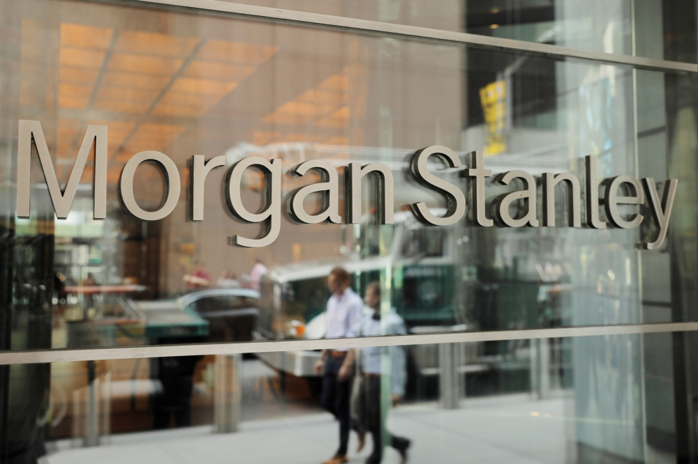 A sign is displayed on the Morgan Stanley building in New York in this July 16, 2018 file photo. — Reuters