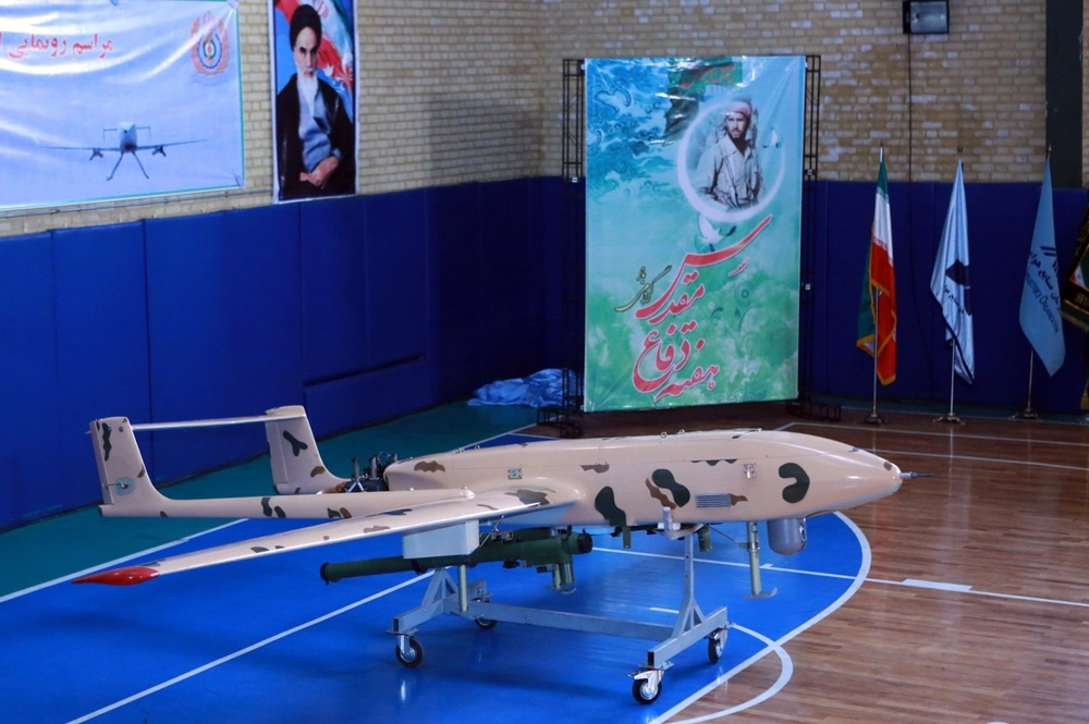 In this file handout photo taken on Sept. 23, 2014 and released by the official website of Iran's Defense Ministry website, shows newly made drone during an unveiling ceremony in Tehran. The US military shot down an Iranian drone on Thursday, that came within 1,000 yards of one of its naval vessels in the Strait of Hormuz, President Donald Trump said. — AFP
