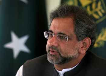 Pakistan's ex-Prime Minister Shahid Khaqan Abbasi speaks  during an interview at his office in Islamabad, Pakistan, in this Sept. 11, 2017 file photo. — Reuters
