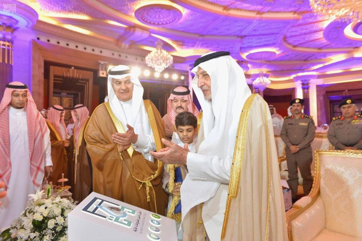Prince Khaled Al-Faisal, emir of Makkah Province, adviser to the Custodian of the Two Holy Mosques and chairman of the Central Haj Committee, inaugurates six mega water projects for Makkah and the holy sites worth SR3.1 billion to serve pilgrims in the long term. — SPA  Attachments area