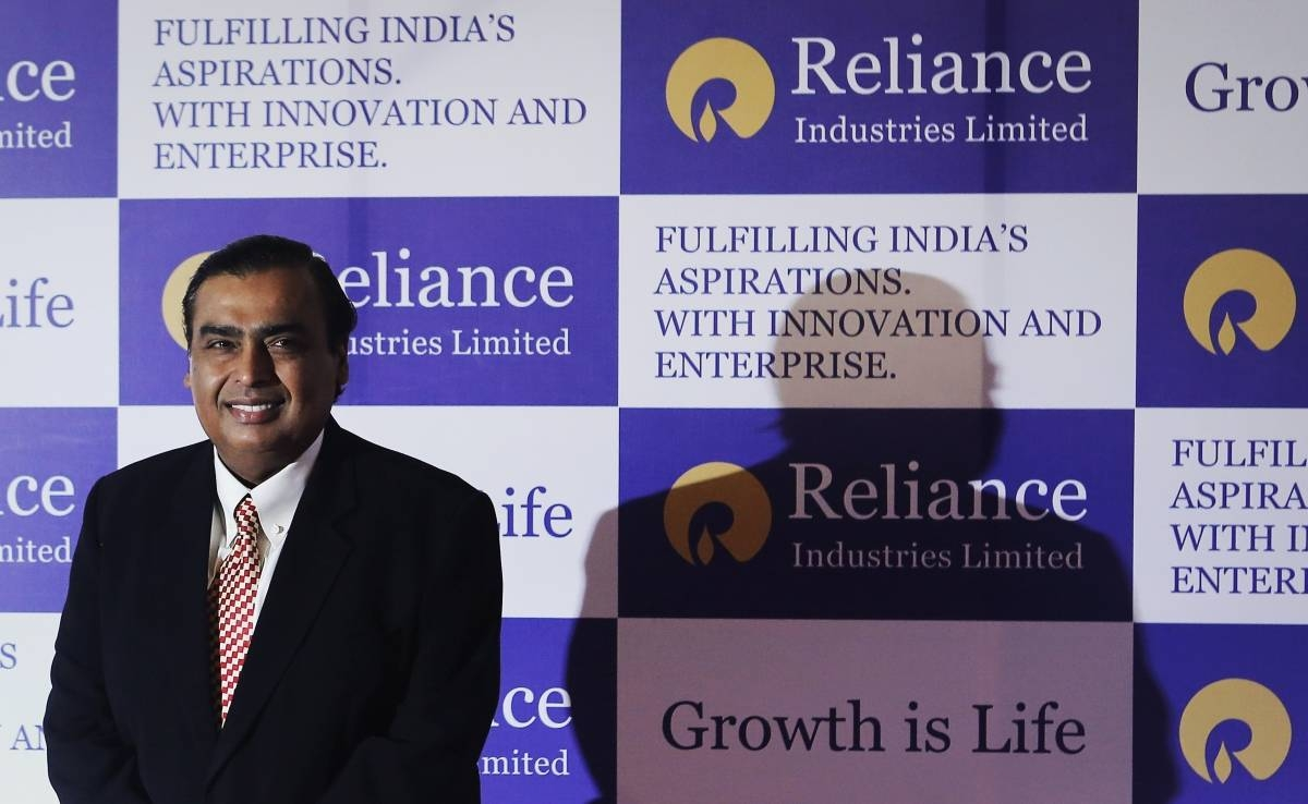 Mukesh Ambani, chairman of Reliance Industries Limited, poses for photographers before addressing the annual shareholders meeting in Mumbai, India, in this June 6, 2013 file photo. — Reuters