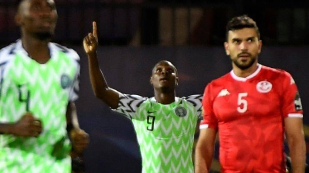 Odion Ighalo's winner against Tunisia in the Africa Cup of Nations third place playoff sealed him the Golden Boot, in this file photo. — AFP