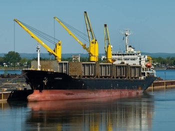 File photo of Iranian ship Saviz.