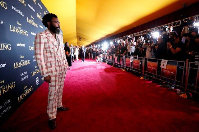 Cast member Donald Glover poses as he arrives for the World Premiere of