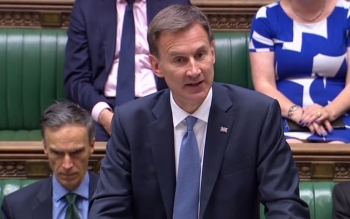 Britain's Foreign Secretary Jeremy Hunt gives a statement in the House of Commons in London on the situation in the Gulf after Iran seized a UK-flagged tanker on Monday. — AFP