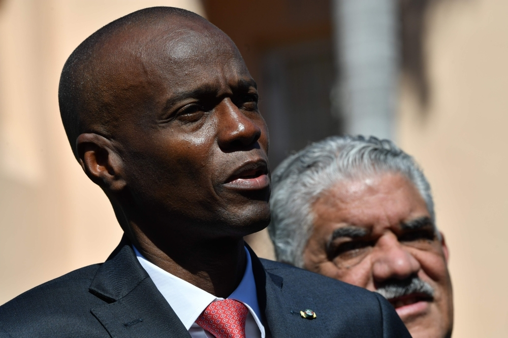 In this file photo taken on March 22, 2019 Haitain President Jovenel Moïse speaks to the press after meeting US President Donald Trump during an event with  Caribbean leaders hosted by Trump at the Mar-a-Lago estate in West Palm Beach Florida. -AFP photo