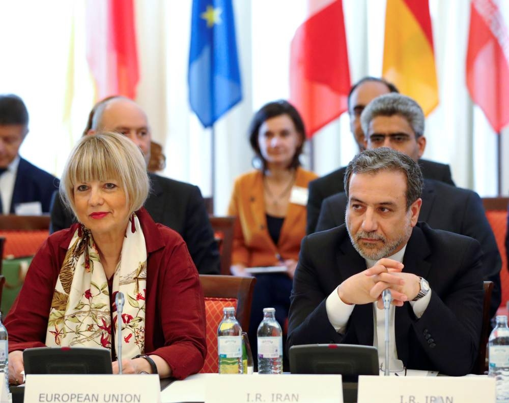 Iran's top nuclear negotiator Abbas Araqchi and Secretary General of the European External Action Service (EEAS) Helga Schmit attend a meeting of the JCPOA Joint Commission in Vienna, Austria, in this June 28, 2019 file photo. — Reuters