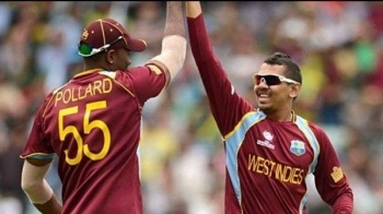 West Indies recalls Narine (R) and Pollard for T20s against India. The first two T20s against India will take place on Aug. 3 and 4 at the Broward County Stadium in Lauderhill, Florida, with the third to be held in Guyana. The two sides will also contest three ODIs and two Tests. — Courtesy photo
