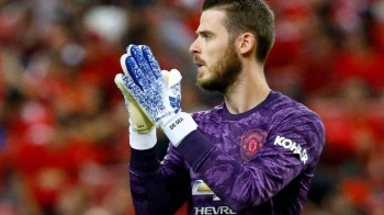 Manchester United's David de Gea applauds during International Champions Cup match against Inter Milan at Singapore National Stadium, Singapore, in this July 20, 2019 file photo. — Reuters