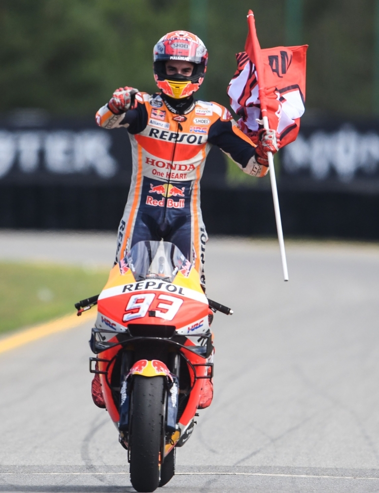 Marquez extends lead with 50th career race win at Czech