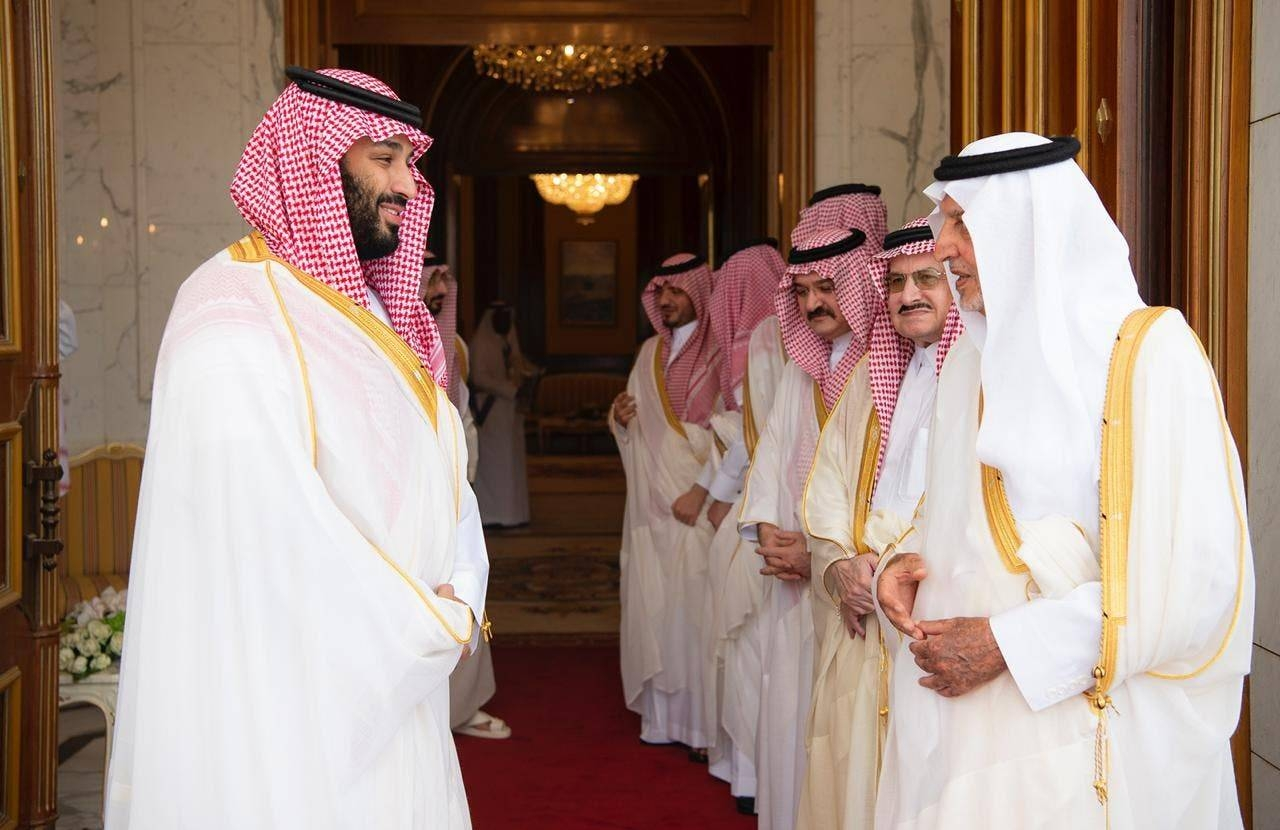 Crown Prince Muhammad Bin Salman receives guests for Eid Al-Adha. -SPA