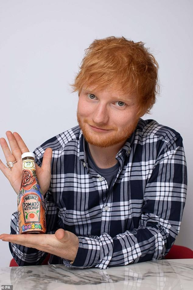 A limited edition Heinz tomato ketchup designed by Ed Sheeran has become the priciest sauce ever, after it sold at auction for £1,500. –Courtesy photo