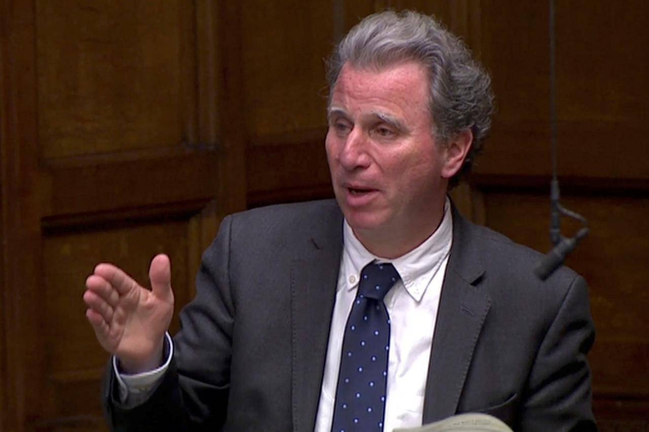 British Conservative MP Oliver Letwin speaks in the Parliament in London on April 3, 2019. -Reuters