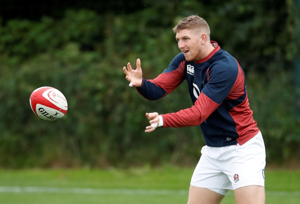 England's Ruaridh McConnochie during training session at Clifton College Sports Ground, Bristol, Britain, on Friday. — Reuters