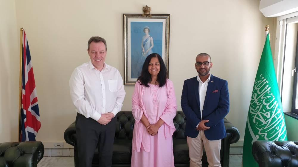 British Consul General Seif Usher (left); MP Yasmin Qureshi (center) and CEO of Council of British Hajis Rashid Mogradia. — Courtesy photos