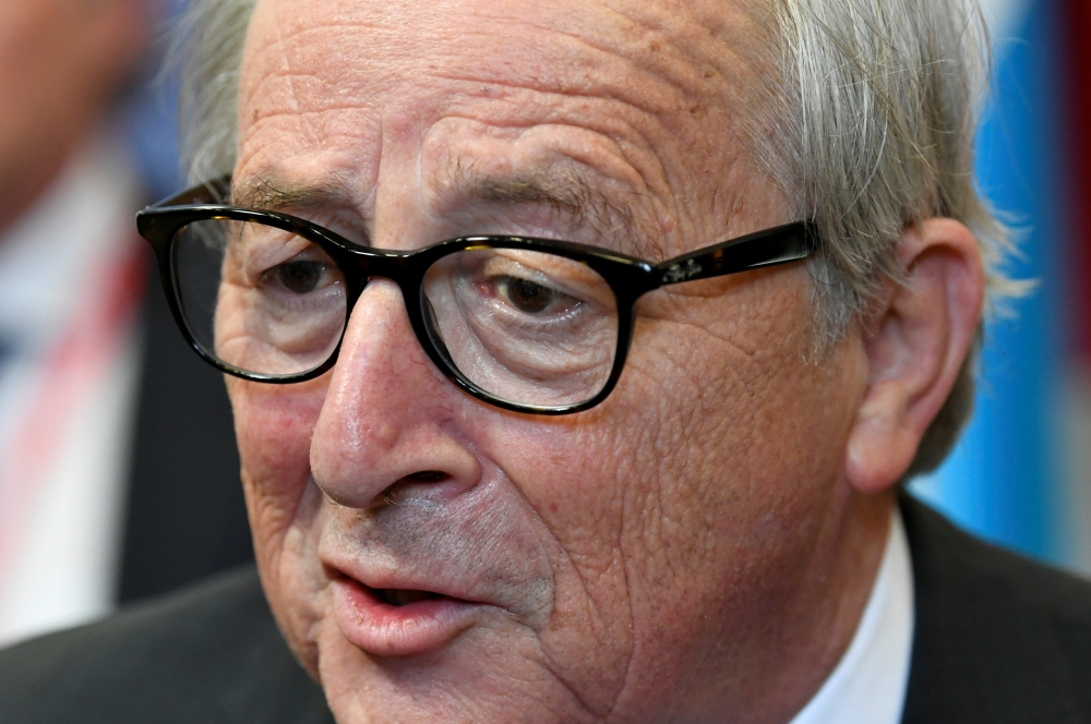 European Commission President Jean-Claude Juncker talks with the media after the European Union leaders summit, in Brussels, Belgium, in this July 2, 2019 file photo. — Reuters
