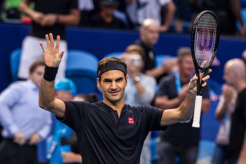 Roger Federer of Switzerland celebrates his victory against Frances Tiafoe of the US during their men's singles match on day four of the Hopman Cup tennis tournament in Perth, in this Jan. 1, 2019 file photo. — AFP
