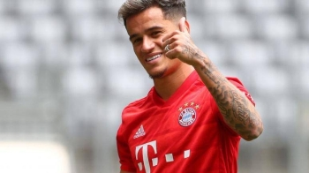 Bayern Munich's Philippe Coutinho poses during the presentation event at Allianz Arena, Munich, Germany, in this Aug. 19, 2019 file photo. — Reuters