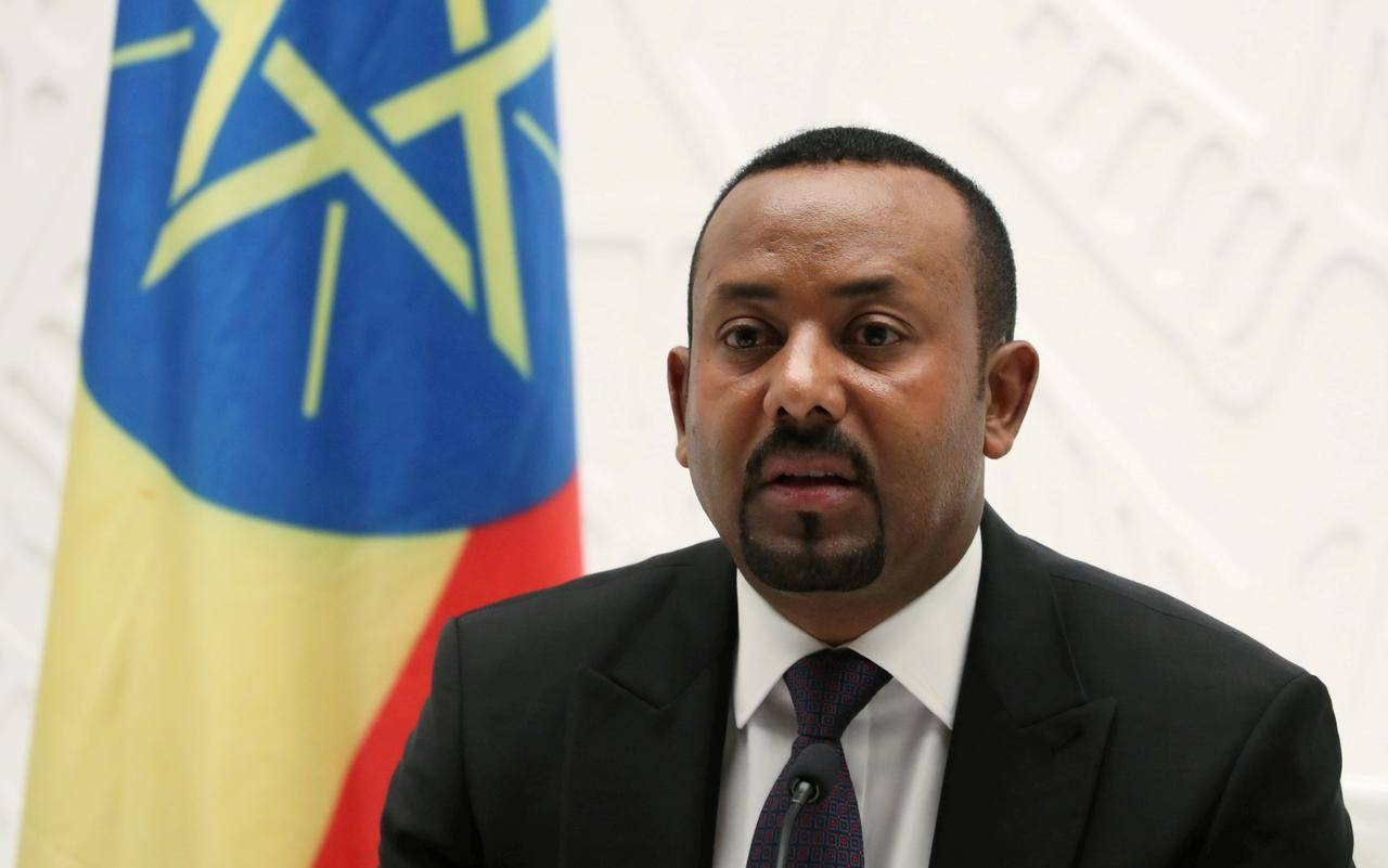 Ethiopia's Prime Minister Abiy Ahmed speaks at a news conference at his office in Addis Ababa, Ethiopia August 1, 2019. -Reuters