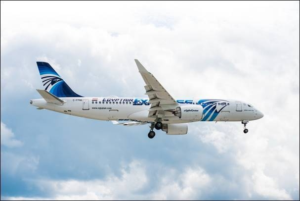 The first A220-300 for EgyptAir successfully completed its maiden flight from Mirabel, Canada airport