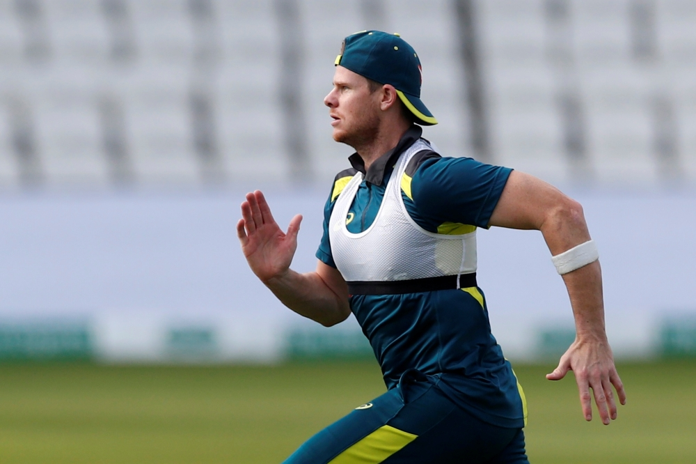 Australia's Steve Smith attends nets session at Headingley, Leeds, Britain, on Sunday. — Reuters