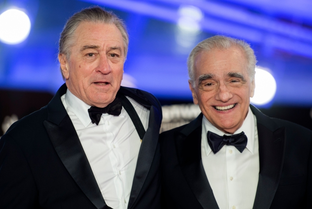 In this file photo taken on December 1, 2018, US actor Robert De Niro (L) and US film director Martin Scorsese (R), arrive at the Marrakech International Film festival. -Courtesy photo