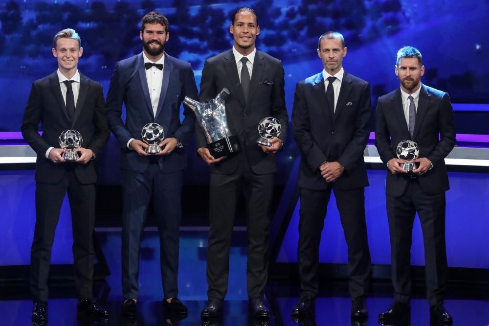 Hasil gambar untuk champions league best 2019 ceremony monaco