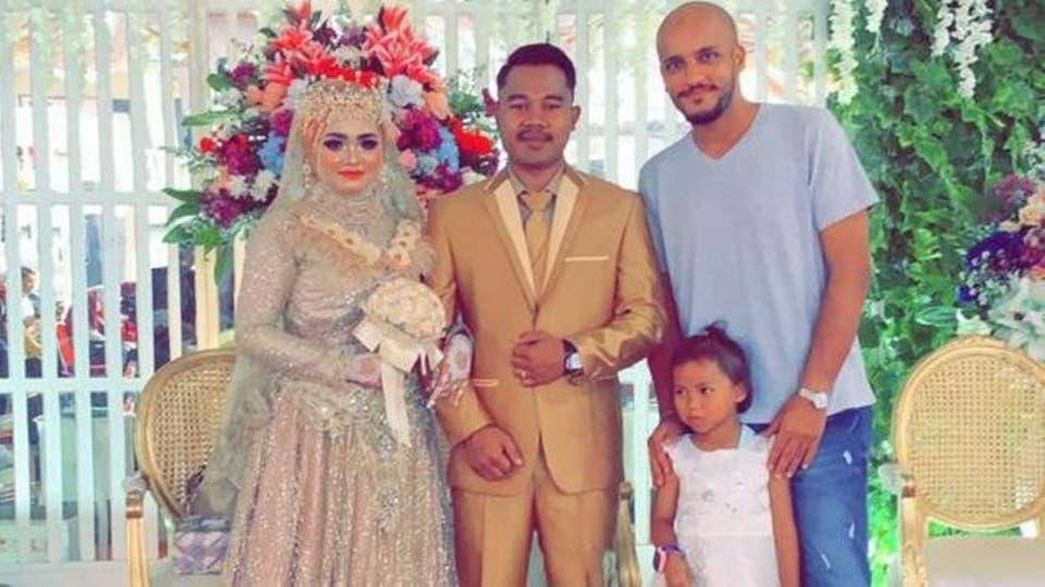 Ahmed Al-Ghamdi at the wedding of the daughter of his housemaid. — Courtesy photo
