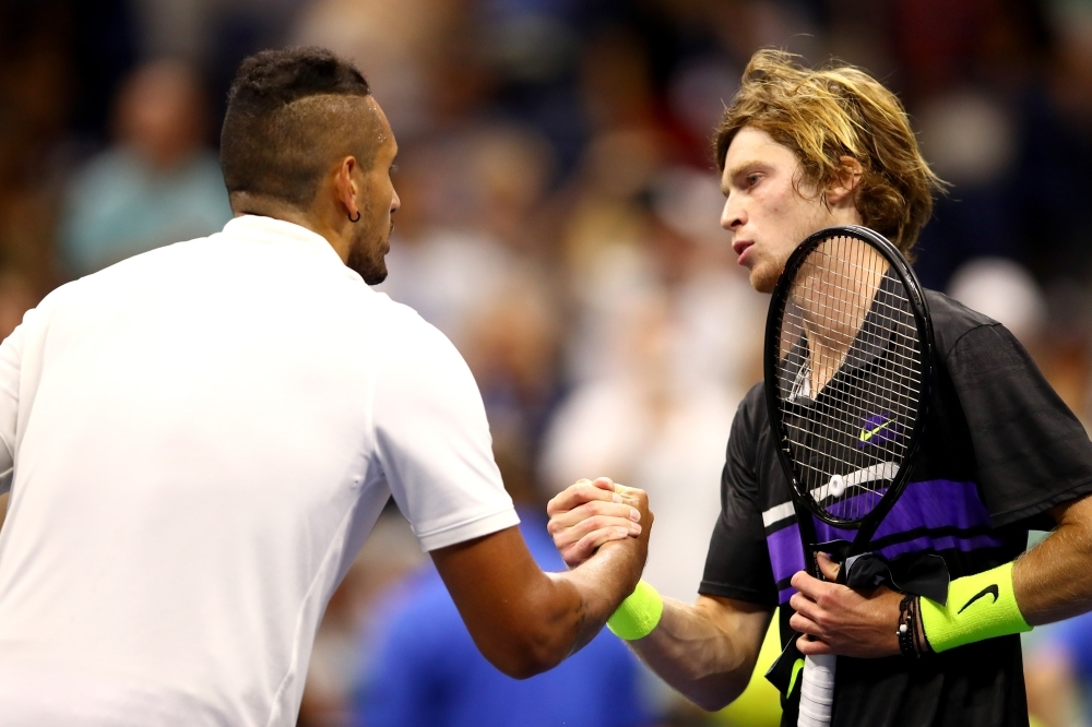Kyrgios sent packing as Rublev reaches last 16