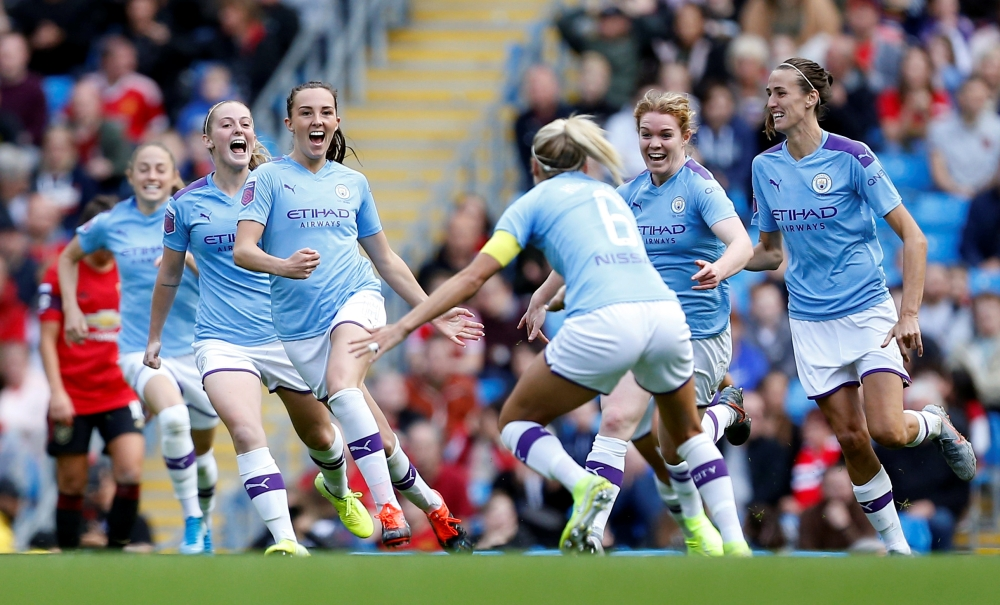 Manchester City 1-0 Manchester United: Weir gives Man City derby joy