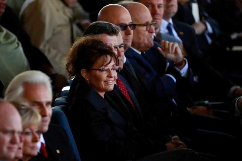 Former Alaska Governor and former US vice presidential candidate Sarah Palin attends the funeral service for US evangelist Billy Graham at the Billy Graham Library in Charlotte, North Carolina, in this March 2, 2018 file photo. — Reuters