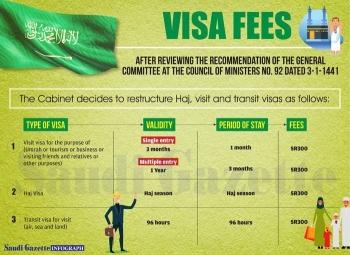 Visa fees infograph