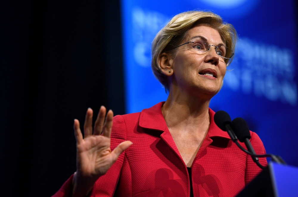 Democratic 2020 US presidential candidate and US Senator Elizabeth Warren (D-MA) speaks at the New Hampshire Democratic Party state convention in Manchester, New Hampshire, US Sept. 7, 2019.  — Reuters