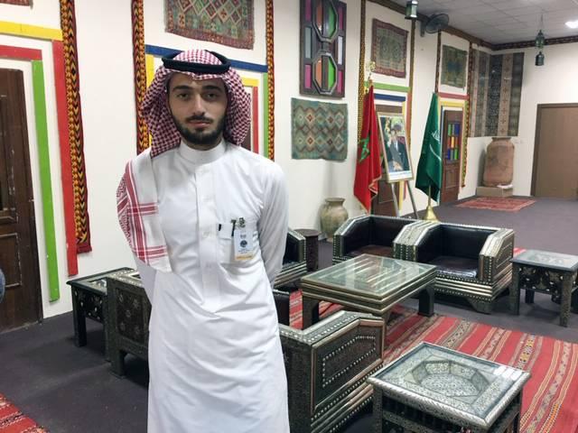Rameez Osama Al-Massri at Moroccan Museum stall