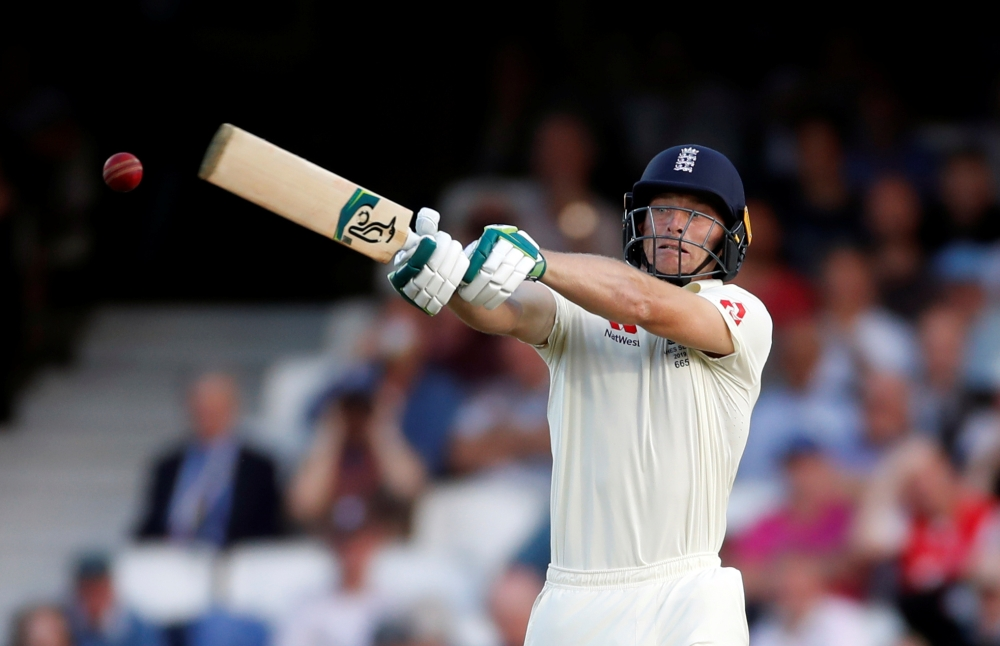 England's Jos Buttler in action during the Fifth Ashes Test against Australia at the Kia Oval, London, Britain, on Thursday. — Reuters