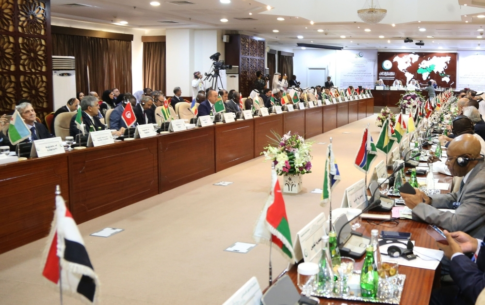 Foreign ministers of the Organization of Islamic Cooperation OIC meet on Sunday. — AFP