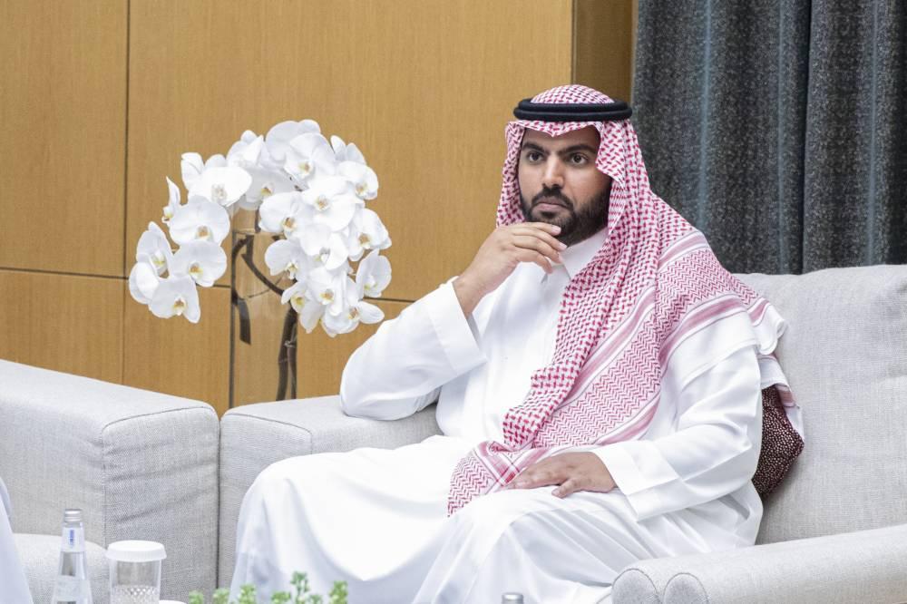 Minister of Culture Prince Badr Bin Abdullah Bin Farhan, set to promote Saudi Arabia's cultural landscape, is seen talking to Okaz/Saudi Gazette.