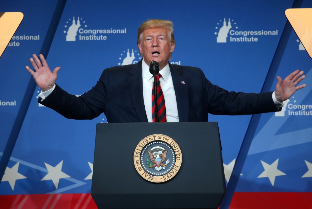 US President Donald Trump speaks at the 2019 House Republican Conference Member Retreat dinner in Baltimore, Maryland, in this Sept. 12, 2019 file photo. — Reuters