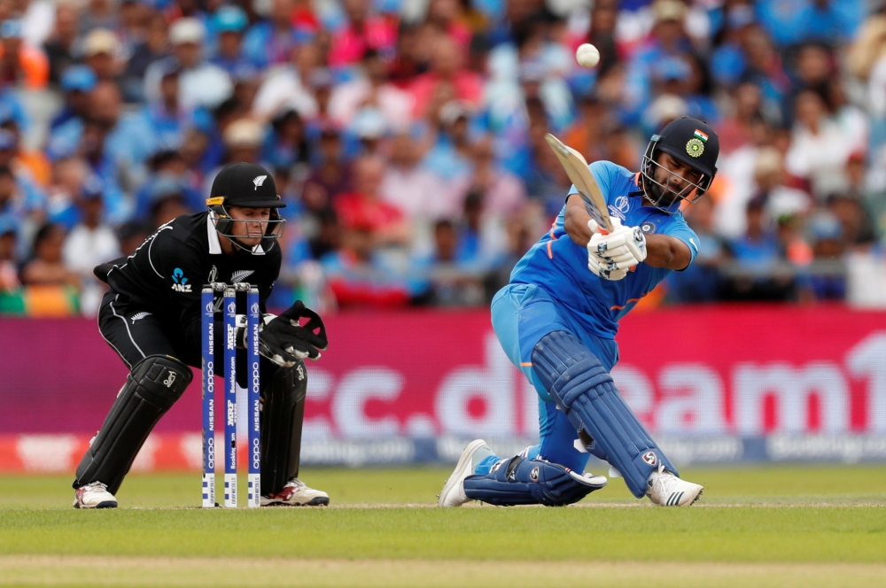 India's Rishabh Pant in action against New Zealand during the World Cup semifinal Old Trafford, Manchester, Britain, in this July 10, 2019 file photo. — Reuters