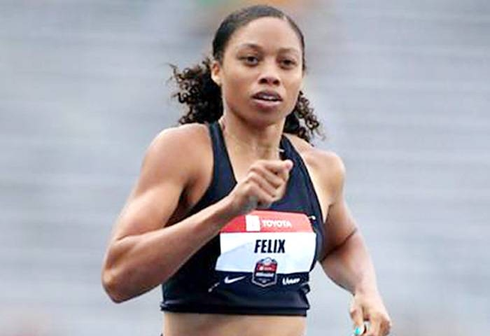 Allyson Felix is named to her ninth consecutive US team for the World Championships. — AFP