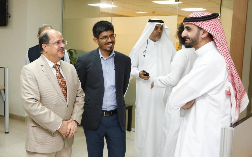 Indian Ambassador Dr. Ausaf Sayeed, accompanied by Consul General Md. Noor Rahman Sheikh, visited the Okaz Organization for Press and Publication and met with Okaz Editor in Chief and General Supervisor of the Saudi Gazette Editorial Jameel Altheyabi.