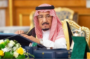 Custodian of the Two Holy Mosques King Salman chairs the weekly session of the Council of Ministers at Al-Salam Palace in Jeddah on tuesday. — SPA