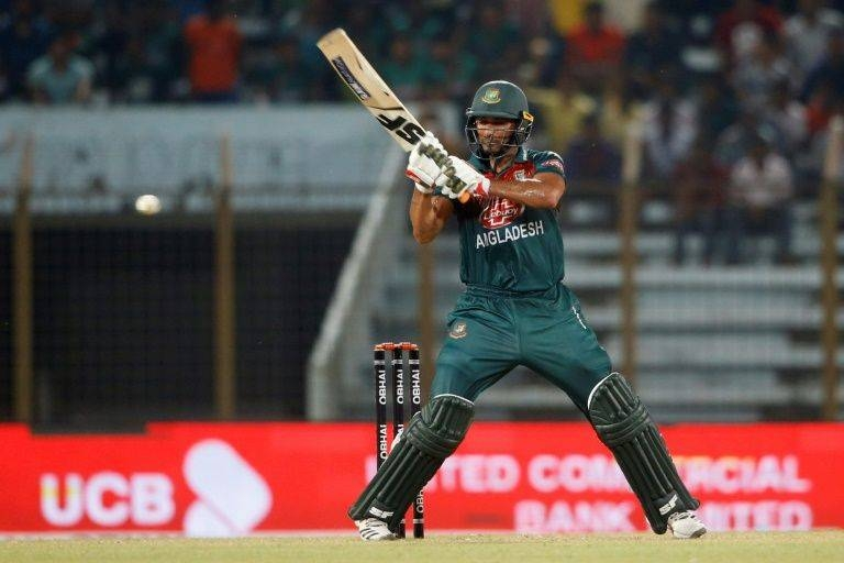 Mahmudullah leads Bangladesh to victory against Zimbabwe. — AFP