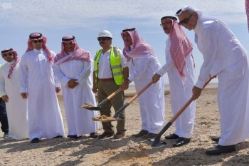 The ceremony of launching the construction works was held in the presence of NEOM Chief Executive Nadhmi Al-Nasr; Chairman of Al-Tamimi Group Tariq Al-Tamimi; and Chairman and CEO of Saudi Arabian Trading & Construction Co. Malik Antabi. Antabi's company won contracts for the construction of the residential complexes. — Courtesy photo