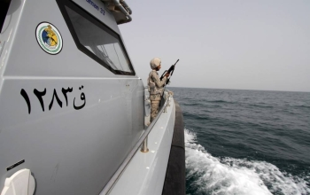 File photo shows a Saudi Naval ship. Saudi Arabia joined on Wednesday the International Maritime Security Construct. — Reuters