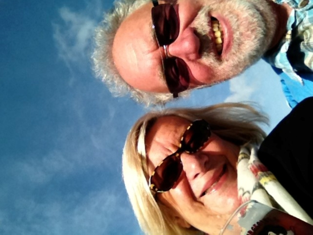 An undated picture shows Sonja and Paul Brain as they pose for a selfie during their holidays in an unknown location. — Reuters