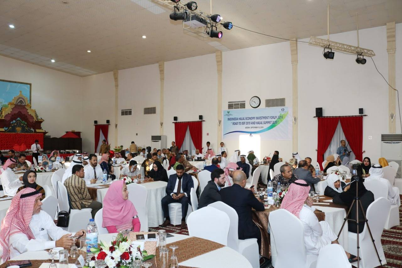 A section of the crowd at the Halal Investment Forum 2019 in Jeddah on Wednesday.