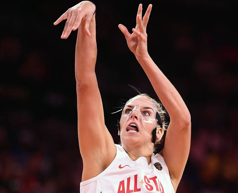 Team Delle Donne forward Elena Delle Donne (11) shoots during the second half of the WNBA All Star game at Mandalay Bay Events Center. — Reuters